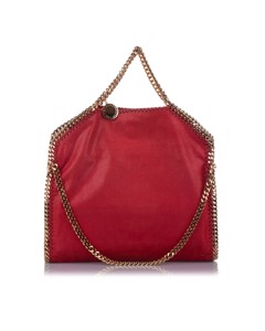 Stella Mccartney Falabella Fold-over Tote Bag Red