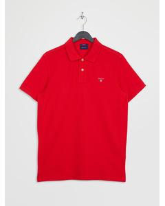 The Original Pique Ss Rugger Bright Red