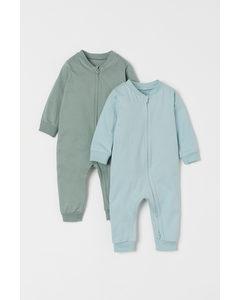 Set Van 2 Pyjamapakjes Groen