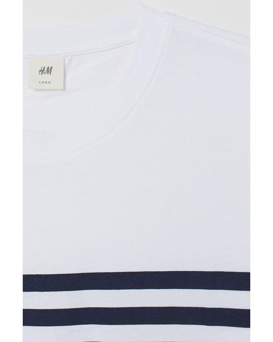 H&M Jo Stripe Tee White