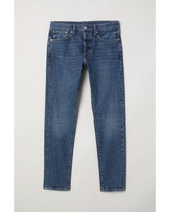 Schlank gerade jeans blau