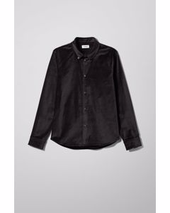 Loa Velvet Overshirt Black