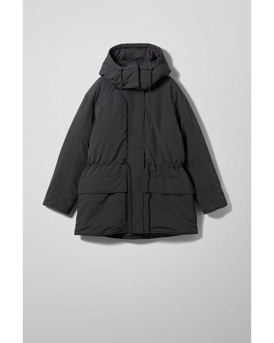 Weekday Zimbra Padded Jacket Black