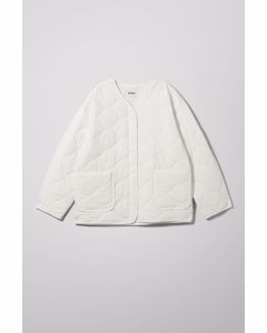 Nova Quilted Jacket White
