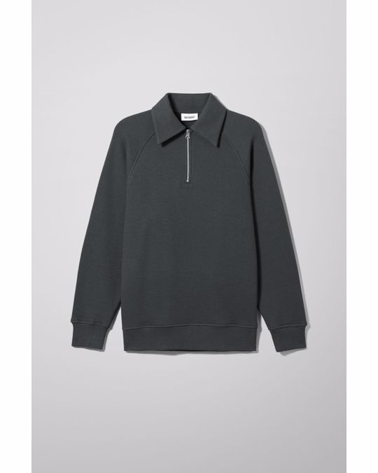 Weekday Brock Halfzip Longsleeve Grey
