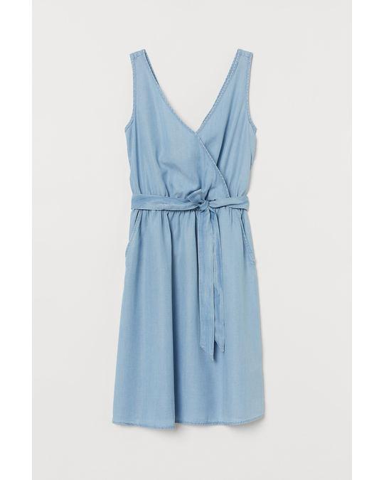 H&M Kleid aus Lyocell Hellblau