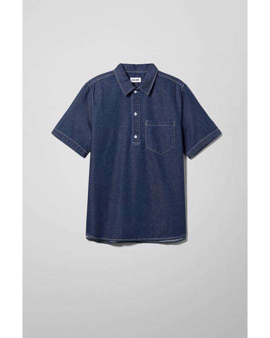 Weekday Scout Heron Blue Denim Shirt Blue