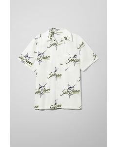 Elof San Juan Short Sleeve Shirt White