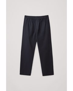Relaxed Elasticated Trousers Navy