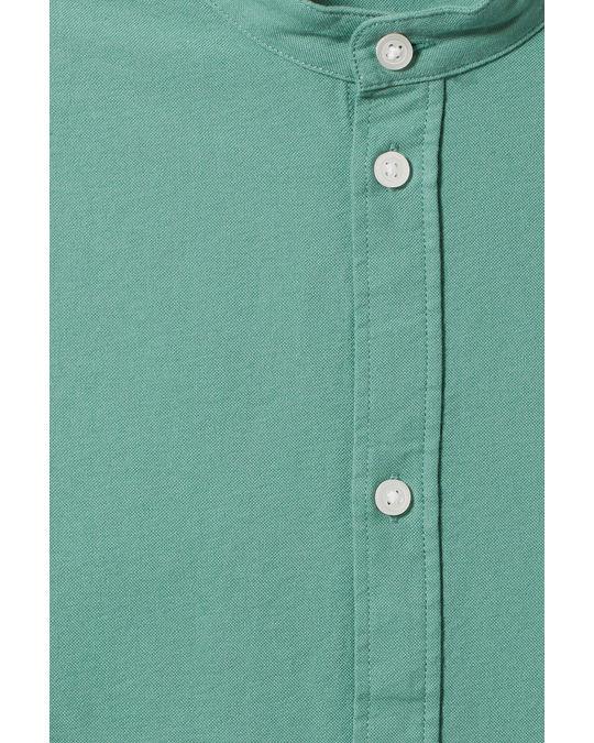 Weekday Haring Collarless Shirt Green