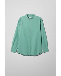 Haring Collarless Shirt Green