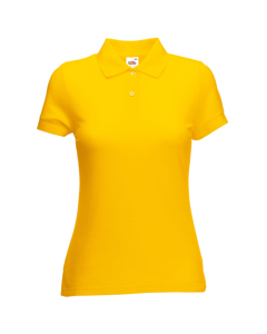Fruit Of The Loom Vrouwen Dames-fit 65/35 Poloshirt Korte Mouwen