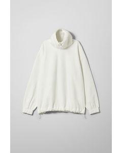Halston Fleece Sweatshirt White