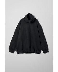 Halston Fleece Sweatshirt Black