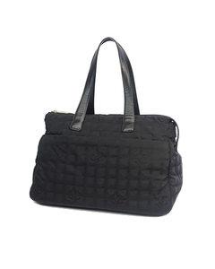 Chanel New Travel Line Canvas Large Bag Black