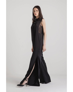 Elegant Stoned Overall With Transparent Side