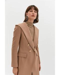 Long Blazer Jacket With Hood