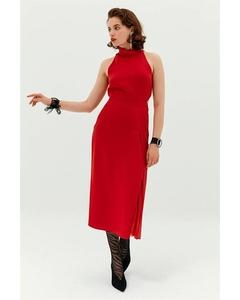 Dress With Back Neckline.