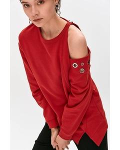 Sweatshirt With Asymmetric Neckline