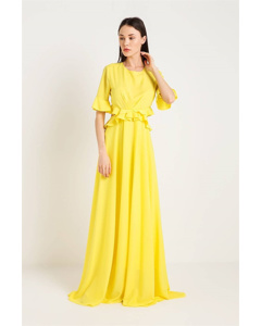 Maxi Dress With Flounce
