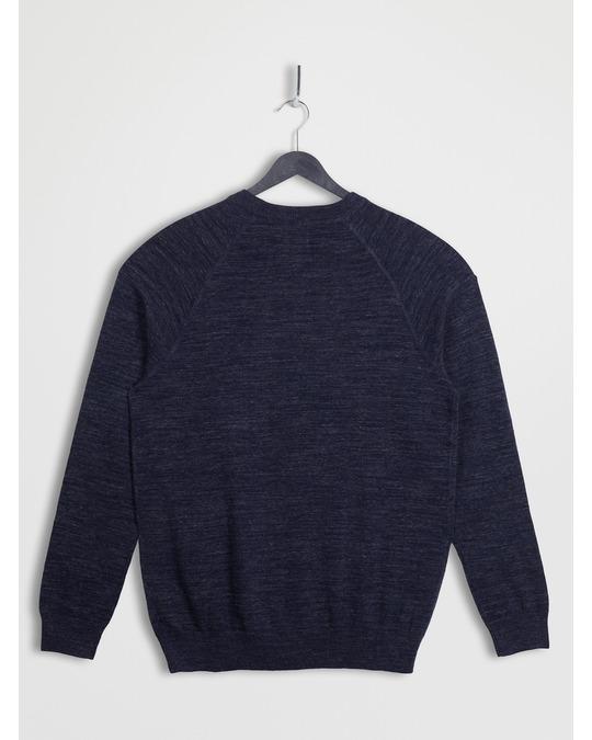 H&M Raglanpullover aus Baumwolle Dunkelblaumeliert