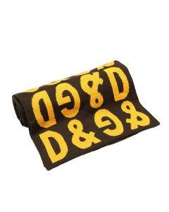 Dolce&gabbana Printed Wool Scarf Black