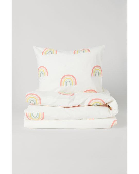 H&M HOME Dekbedset Met Dessin Wit/regenbogen