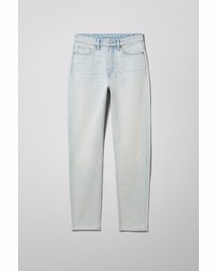 Mika High Mom Jeans Foam Blue