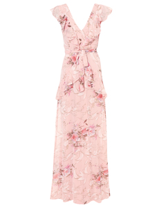 Flounce Tied Gown Print
