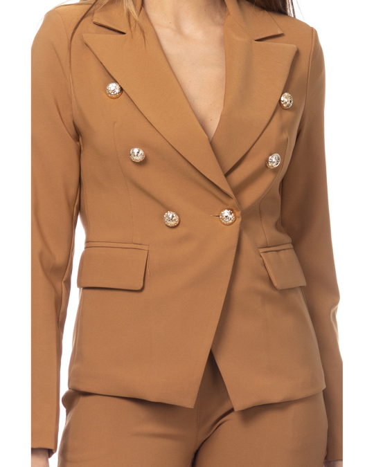 Tantra Jacket With Gold Buttons Details