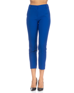 Pants With Waistband, pockets On The Sides And  Blue
