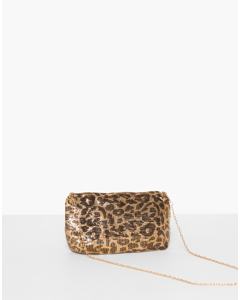 Leo Chain Mail Bag Leopard