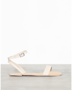 Plain Ankle Strap Sandal Beige