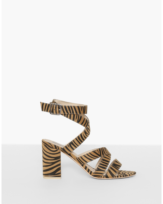 NLY by Nelly Crossed Strap Heel Tiger