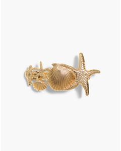 Sea Breeze Hair Clip Gold