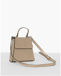 Sharp Mini Bag Beige
