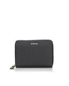 Balenciaga Leather Wallet Black