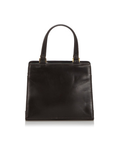 Fendi Leather Handbag Brown