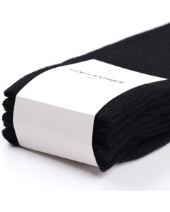 Democratique Socks Originals Solid 3-pack Black Black