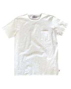 Snygg & Klassisk  T-shirt Med Enkel Hals Och Bröstficka