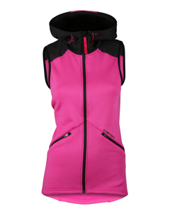 Clima Hood Vest Women Neon Pink/black