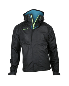Rain Jacket Men Black/turquoise
