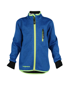 Wind Fleece Jacket Jr Blue/lime