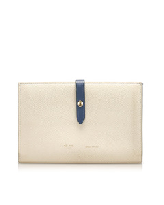 Celine Multifunction Strap Leather Wallet Brown