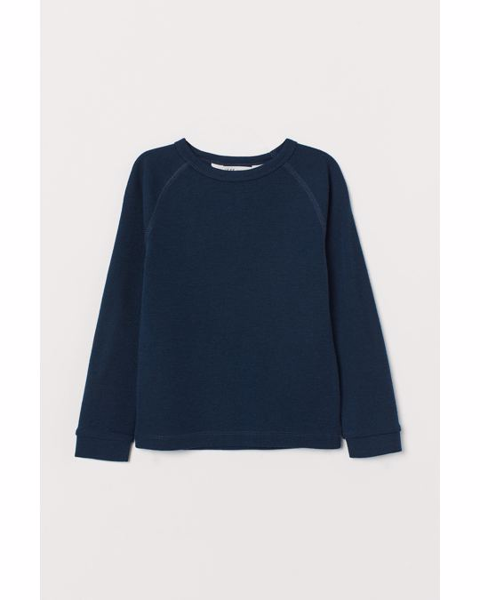 H&M Wool base layer top Dark blue