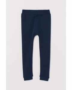 Wool base layer tights Dark blue