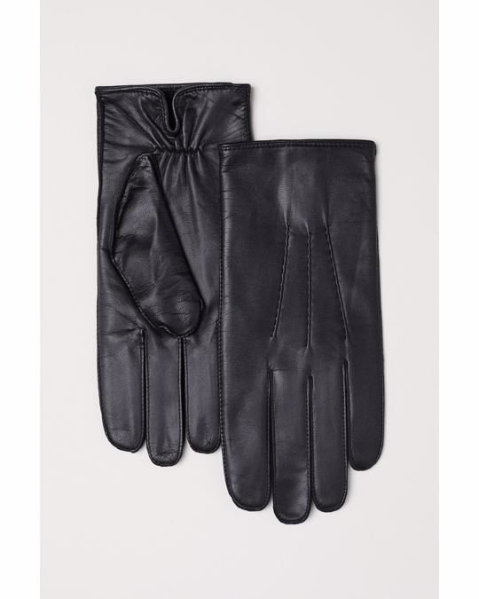 H&M Sune Leather Glove Black