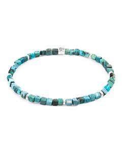Anchor & Crew Turquoise Blue Tekapo Silver And Stone Bracelet