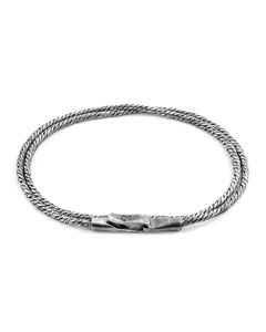 Anchor & Crew Forestay Double Sail Silver Chain Bracelet