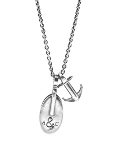 Anchor & Crew Tyne Pulley Silver Necklace Pendant